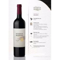 """Vino Malbec """"Estancia..."""